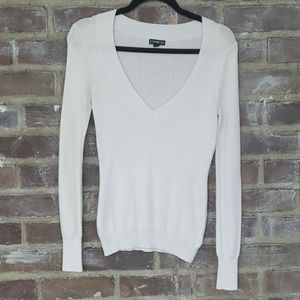 Express White Scoop Neck Sweater